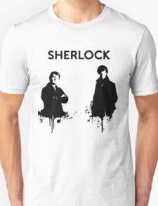 Sherlock in Black and White T-Shirt