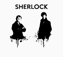 Sherlock in Black and White Men's Baseball ¾ T-Shirt