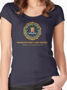 Winners Don't Use Drugs Women's Fitted Scoop T-Shirt