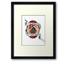 Knittaz gon' knit.  Framed Print