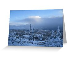 Holy Winter Greeting Card