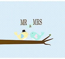 Mr and Mrs Birds Photographic Print