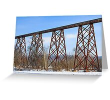 The Tulip Train Trestle Greeting Card