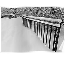 Snow Standing Fence Poster