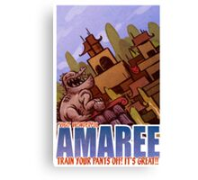 Amaree Location Postcard Canvas Print