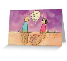 """""""I have to focus"""" Greeting Card"""