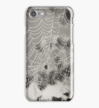 B&W Spider Web Cell Case iPhone Case/Skin
