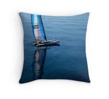 Sailboat on Bay Throw Pillow