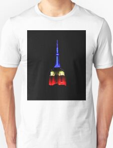 Red White & Blue Empire State Building Unisex T-Shirt