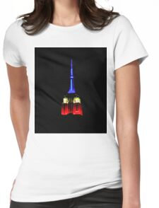 Red White & Blue Empire State Building Womens Fitted T-Shirt