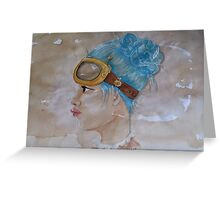 Tea Stained Steampunk Greeting Card