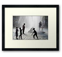 Fountain Fun One Framed Print