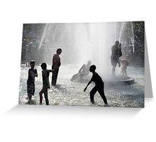 Fountain Fun One Greeting Card