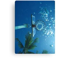 Underwater Hoops View Canvas Print
