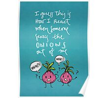 Onions (white) Poster