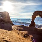 Delicate Arch Sunrise by Philip Kearney