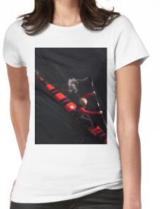 Red, Black and Blonde Womens Fitted T-Shirt
