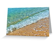 Sandy beach and waves Greeting Card