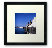 Fremantle Harbour  Framed Print
