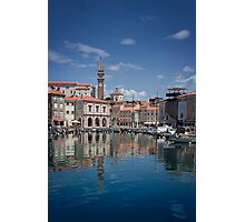 Piran in the sun Photographic Print