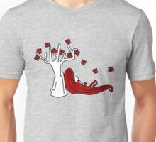 The red under the tree Unisex T-Shirt