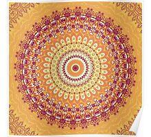 Orange Spice Mandala Poster