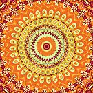 Orange Spice Mandala by Vicki Field