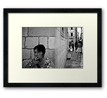 A moment's smoke Framed Print