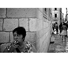 A moment's smoke Photographic Print