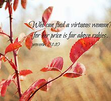Virtuous Woman Proverbs by Kimberose