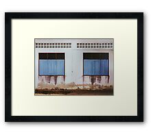 Run-down Facade with Closed Windows Framed Print