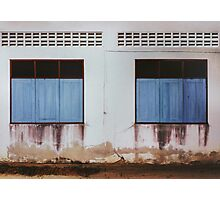 Run-down Facade with Closed Windows Photographic Print