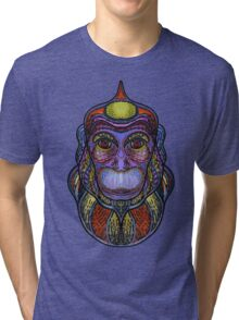 Psychedelic monkey Tri-blend T-Shirt