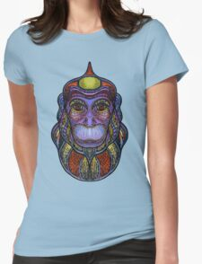 Psychedelic monkey Womens Fitted T-Shirt