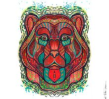 Psychedelic bear by Milena Taranu