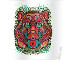 Psychedelic bear Poster