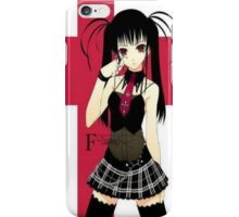 Goth manga girl iPhone Case/Skin