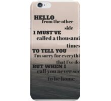 Adele - Hello iPhone Case/Skin