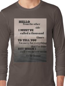 Adele - Hello Long Sleeve T-Shirt