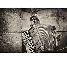 Street accordionist in Havana Photographic Print