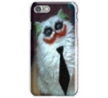 Funny joker cat iPhone Case/Skin
