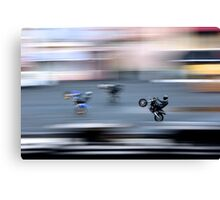 Stunt Cycles Canvas Print