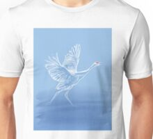 Crane On Lake Unisex T-Shirt