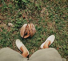 Man Wearing Espadrilles on Grass by visualspectrum