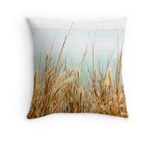 Grass By The Ocean Throw Pillow