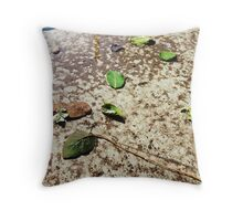 Fallen Leaves in Water Puddle Throw Pillow