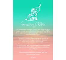 Affirmation - Empowering Children Photographic Print