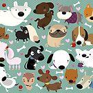 Dog pattern by mjdaluz