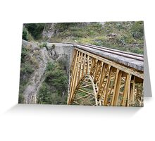 Railway Bridge Over Canyon Greeting Card