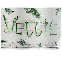 Word Veggie Poster